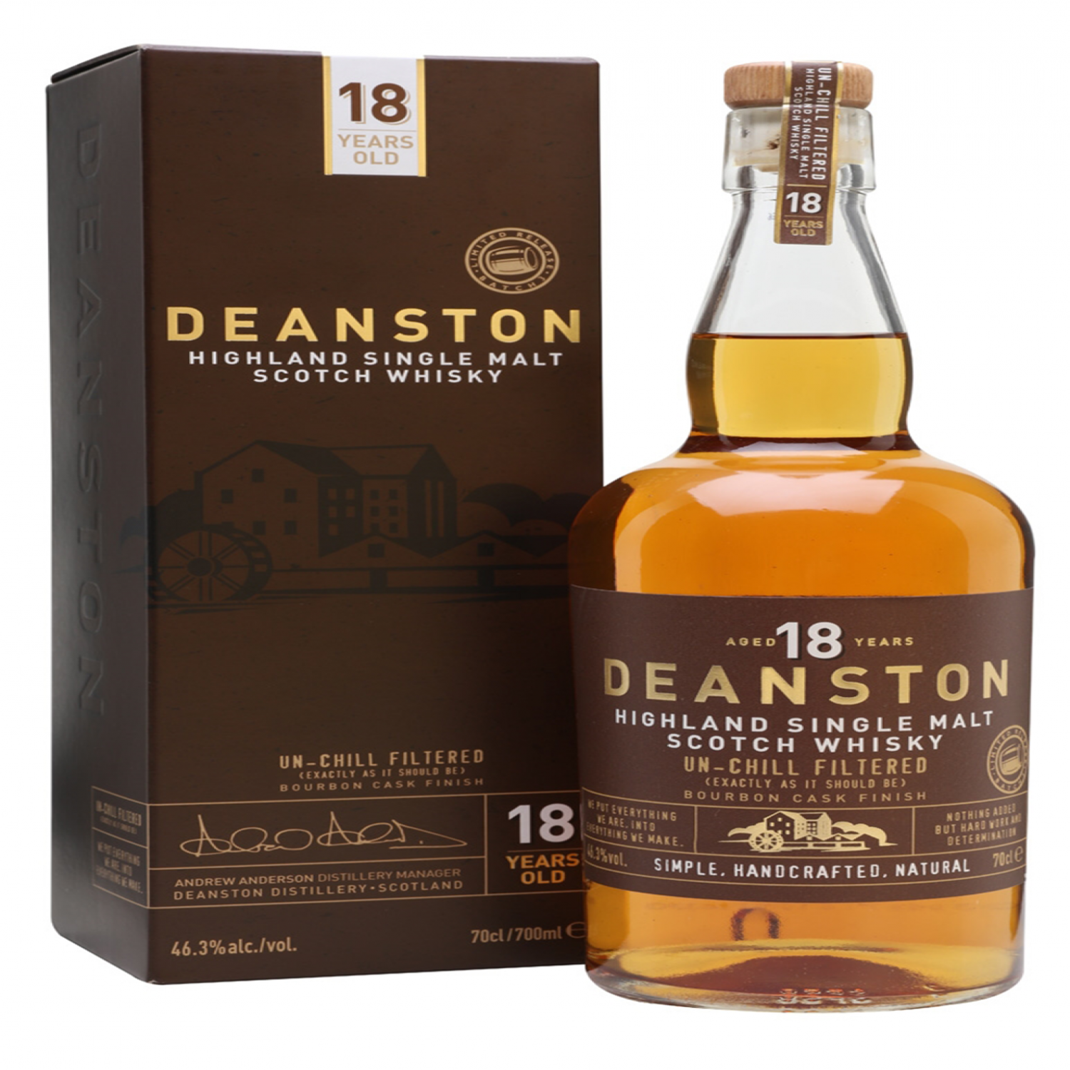 Rượu Deanston Single Malt Scotch Whisky 18 năm