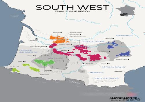 Tìm hiểu rượu vang vùng Tây Nam nước Pháp